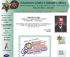 Sample of home page from DCSO site as managed by ServiceWebs.