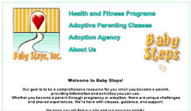 Home page of Baby Steps, Inc.
