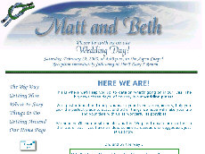 The newlyweds liked their wedding website so much they kept it live online for a year after the wedding!