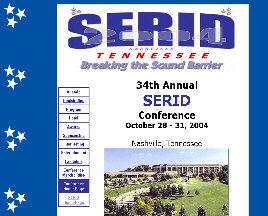 SERID conference home page - client opted for no more work on the site after the successful conference